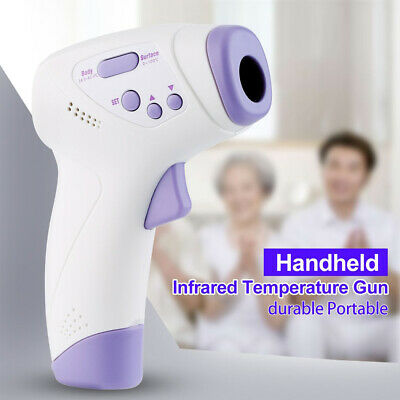 No Touch Digital IR Infrared Forehead Thermometer Gun Adult Body Temperature LCD