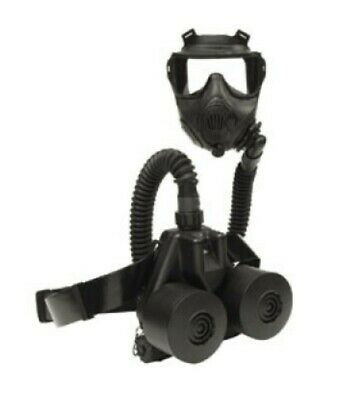 British Army Nbc Fan Papr C420 For Gas Mask Respirator, Battery, Pouch, Filters