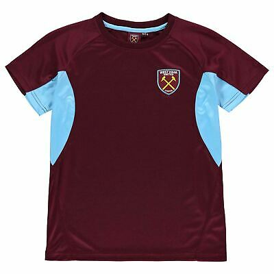 Source Lab Kids Boys West Ham United T Shirt Junior Short Sleeve Performance Tee
