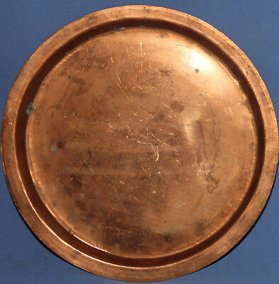 Vintage Hand Made Wrought Copper Platter Tray