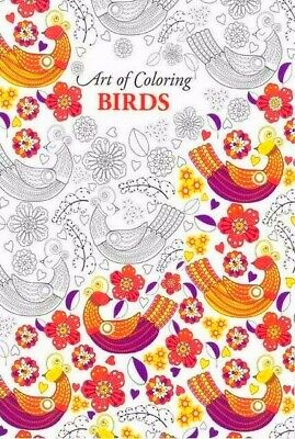 NEW Art Therapy Adults colouring book BIRDS Creative Anti Stress Mandalas Home