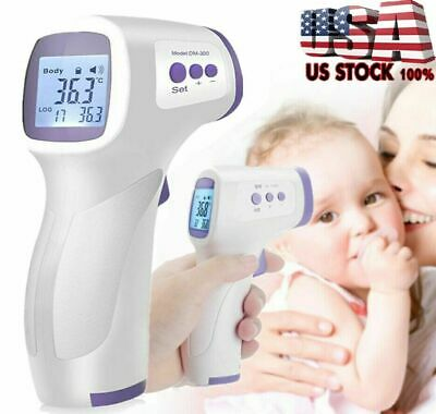 IR Infrared Digital Forehead Fever Thermometer Non-Contact Baby / Adult Body US*