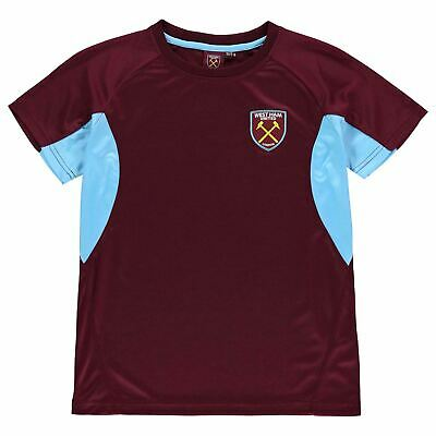 Source Lab Kids West Ham United T Shirt Junior Boys Short Sleeve Performance Tee