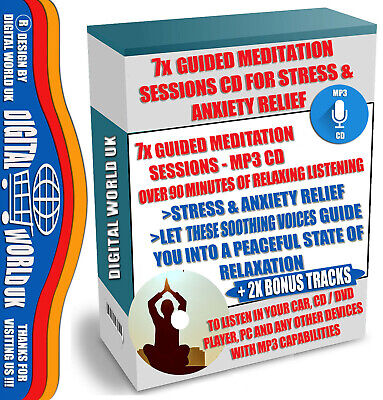 7x Guided Meditation Sessions CD + Bonus Tracks - for Stress & Anxiety Relief