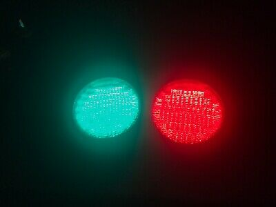 """Ge LED Red And Green Traffic Light 12"""" Stop And Got 120v"""