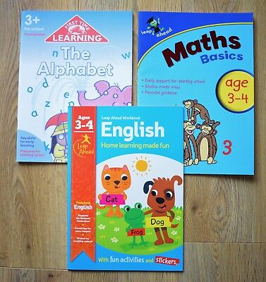 Writing Educational Activity Book Practice Numbers 3 4 years ABC Letters Learn
