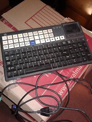 (2) NCR Compact Keyboard for POS w/Touchpad w/ Cable 5932-6570-9090