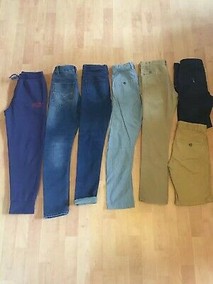 Boys Trousers Shorts Bundle Firetrap Debenhams NEXT Skinny Jeans Chinos Age 8 9