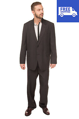 RRP€290 DOMENICO TAGLIENTE Suit Size 59 / 4XL Single Breasted Notch Lapel Collar