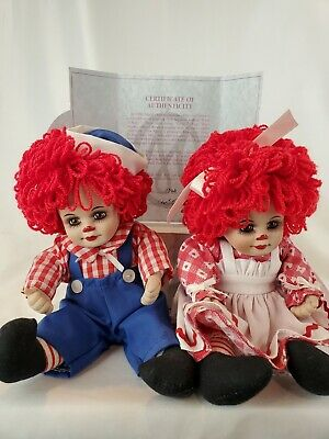 Marie Osmond Fine Collectibles Dolls Rosie And Rags Tiny Tots Dolls 2002