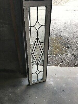 MK 27 Antique Beveled and textured glass transom window 12 x 48