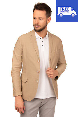 RRP €185 JEY COLE MAN Blazer Jacket Size 48 Unlined Textured Made in Italy