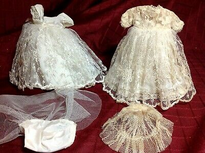 Vintage Lot of Ginny Tagged Wedding Gowns White and Off White with Veils