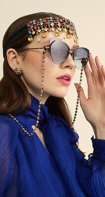 Mimco Multi Coloured Crystal Sunglasses Chain - BRAND NEW