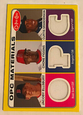 2009 O-Pee-Chee Materials Jacoby Ellsbury Chone Figgins Curtis Granderson