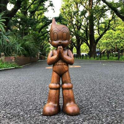 """""""IN STOCK"""" ToyQube x Astro Boy Greenting 12"""" Wooden Version, limit 100 SOLD OUT"""