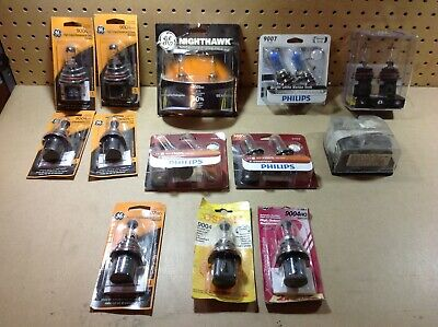 Huge Lot of Mixed Auto Replacement Bulbs GE, Philips, Osram Read Description