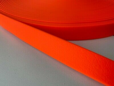 PVC Webbing - HOT ORANGE - 13mm, 16mm, 20mm and 25mm available