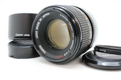 【 MINT IN CASE! 】 CANON FD 100mm F2.8 SSC S.S.C Telephoto Lens From JAPAN