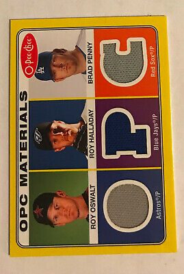 PS-36 2009 O-Pee-Chee Baseball Materials Roy Oswalt Roy Halladay Brad Penny