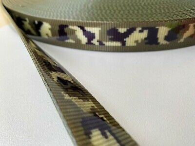TPU Webbing - Camouflage - 16mm, 20mm and 25mm available