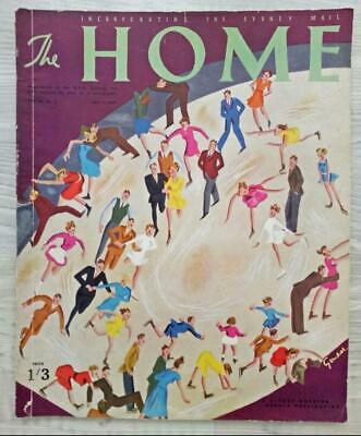 Vintage THE HOME MAGAZINE 1939-Gould ART COVER-Adverts P&O Travel, Rolex,Arnotts