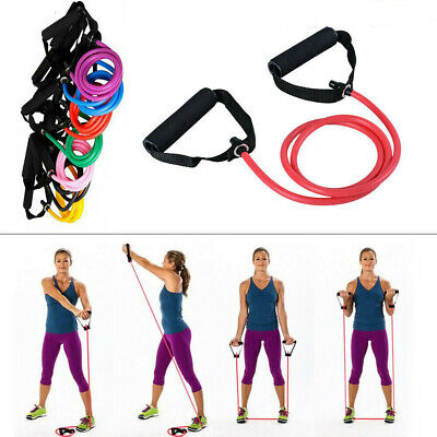 Yoga Elastic Resistance Bands Stretch Loop Exercise Gym Training Fitness Rope