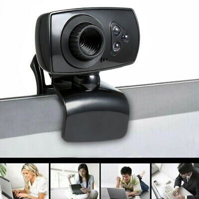 Full HD 50MP Webcam USB 3 LED Video Camera with Microphone for PC Laptop Clip-on