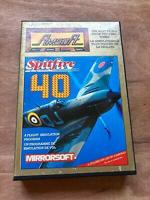 Spitfire 40 by Mirrorsoft, Boxed - Amstrad CPC - Works!