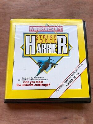 Strike Force Harrier By Mirrorsoft for Amstrad CPC - Boxed And Working