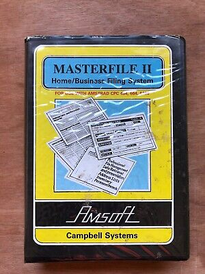 Masterfile II - Filing System for Amstrad CPC - Boxed And Working
