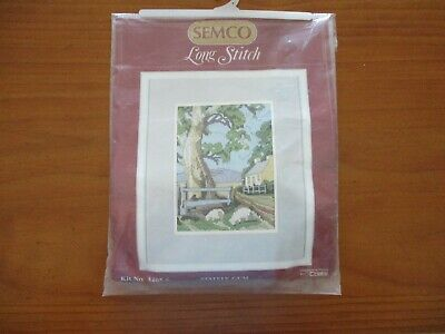 SEMCO Long Stitch Kit No. 3205.6  STATELY GUM Includes Pure wool New Tapestry