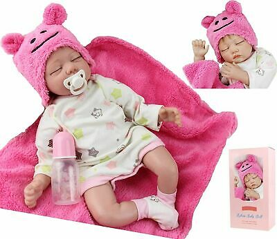 22inch Reborn Dolls Girl Soft Silicone Real Life Sleeping Baby Toys Holiday Gift