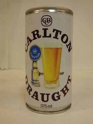 Carlton draught ring pull top steel beer can 375 ml