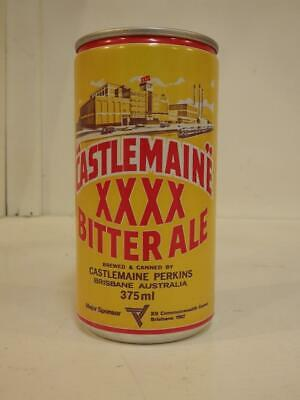Castlemaine XXXX bitter ale ring pull top aluminium beer can 375 ml 1982 games