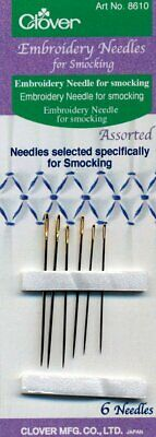 Embroidery Needles for Smocking Pleaters Assorted (6 Pack) by Clover LAST ONE