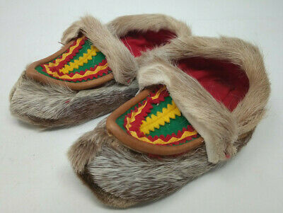 Vintage Traditional Handmade Reindeer Child Shoes Lapland Sami Saami Finland