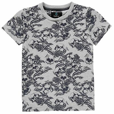 Firetrap Kids Boys Short Sleeve T Shirt Junior Crew Neck Tee Top Cotton Pattern