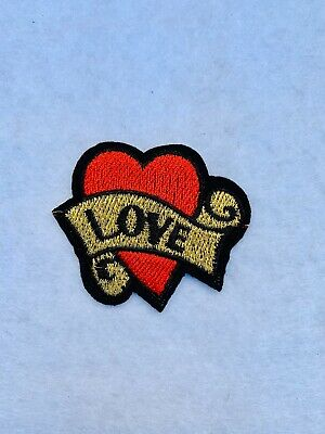 I Love London England Sign Logo Embroidered Iron on Sew on Patch #192