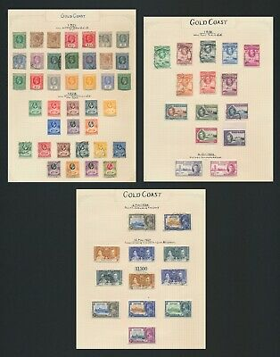 Gold Coast Stamps 1921-1938 Kgv To 5/- & Kgvi 1938 Set, 3 Pages