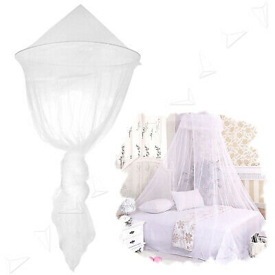 NEW House Mosquito Net Bed Single King Midge Insect Fly Canopy Netting White