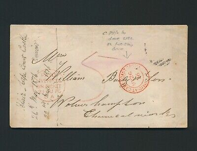 1876 Gold Coast Cover Paid At Cape Gold Coast Castle Cds R. Lowe 556, No Stamps