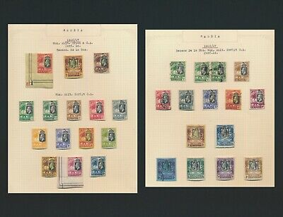 Gambia Stamps 1922-1927 Kgv 2 Beautiful  Pages Inc High Values To 3/- Mint Og