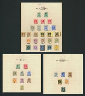 Gambia Stamps 1912-1922 Kgv Set Incs Varieties A Flaw To 3/- Mint Og, 2 Vf Pages