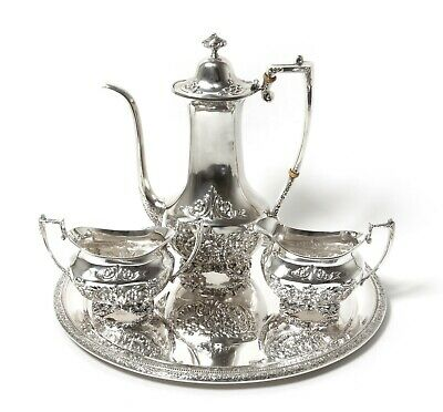 Silver coffee set, 4 items: USA, Amston Silver Co.