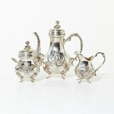 Silver coffee set, 3 items.  Was imported to Sweden.