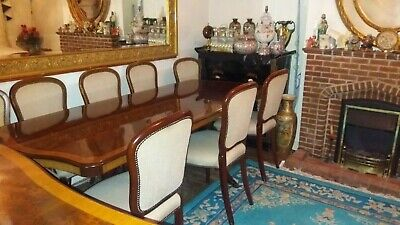 Walnut wood dinner table 8 seater (Epstein designer) with matching sideboard