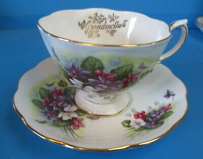 Royal Albert  Grandmother Cup & Saucer Small Flowers Excellent Condition