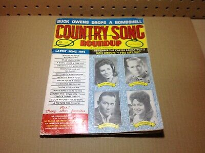 Vintge Country Song Roundup Magazine June 1966 June Carter, Buck Owens
