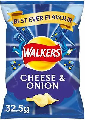 Walkers cheese & onion Crisps 32 x 32.5g Bags UK SAVORY SNACKS -Tracked service